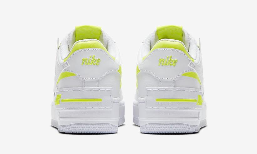 'Lemon Venom' Paints The Layers On This Nike Air Force 1 Shadow heel