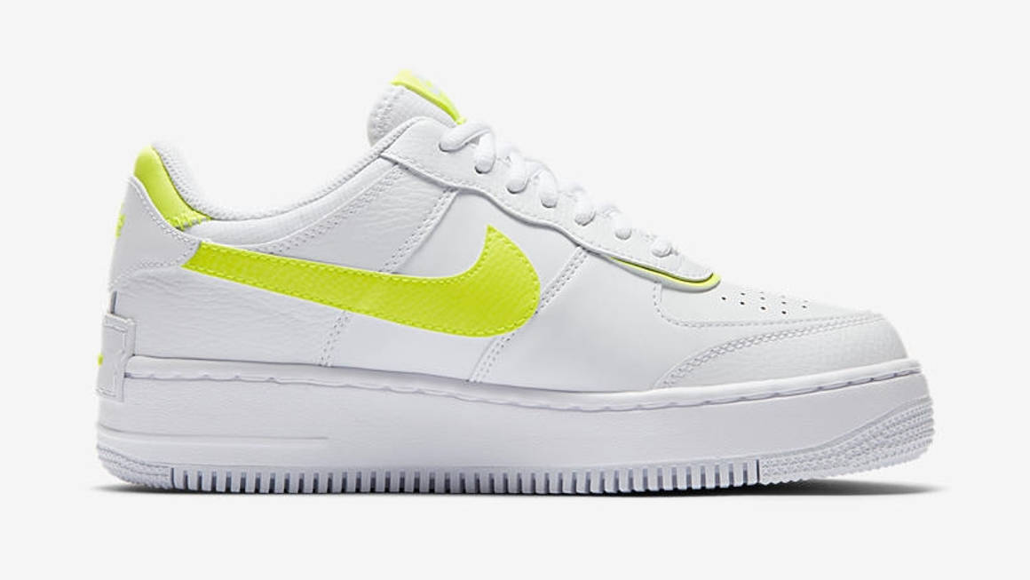 Lemon Venom Paints The Edges Of This Nike Air Force 1 Shadow The Sole Womens Shadow pieces for a unique play on a classic. nike air force 1 shadow