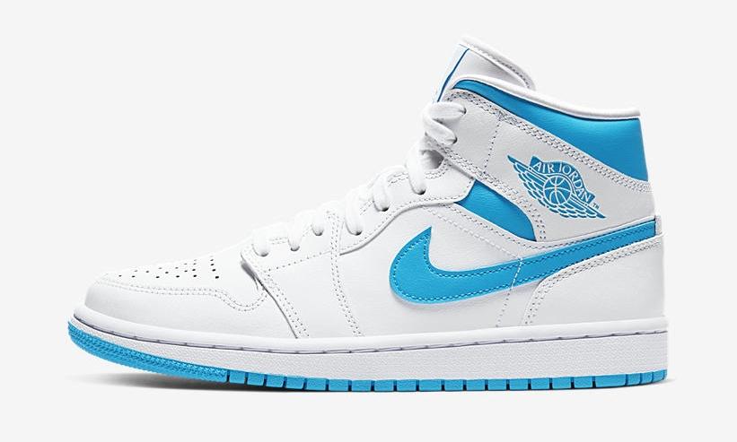 Nike Air Jordan 1 Mid Carolina Blue side 1