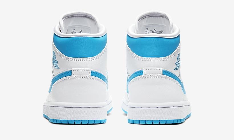Nike Air Jordan 1 Mid Carolina Blue heel