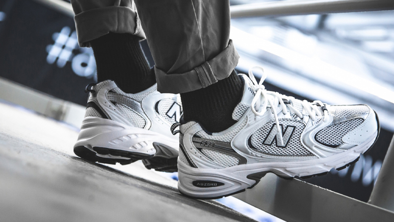 New Balance 530 White Navy On Foot