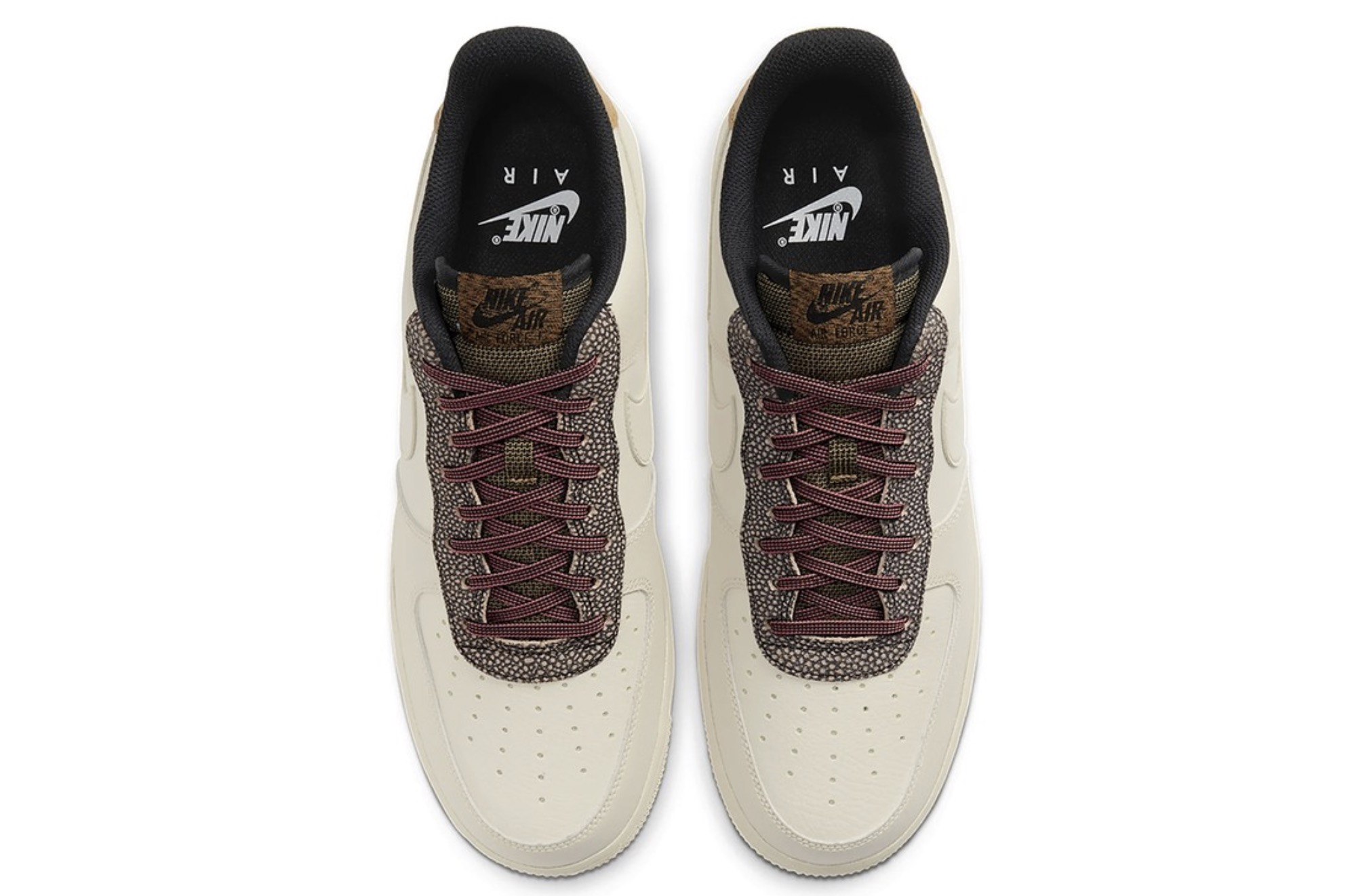 """Nike's Air Force 1 07 in """"Fossil:Wheat:Shimmer"""" 5 laces"""