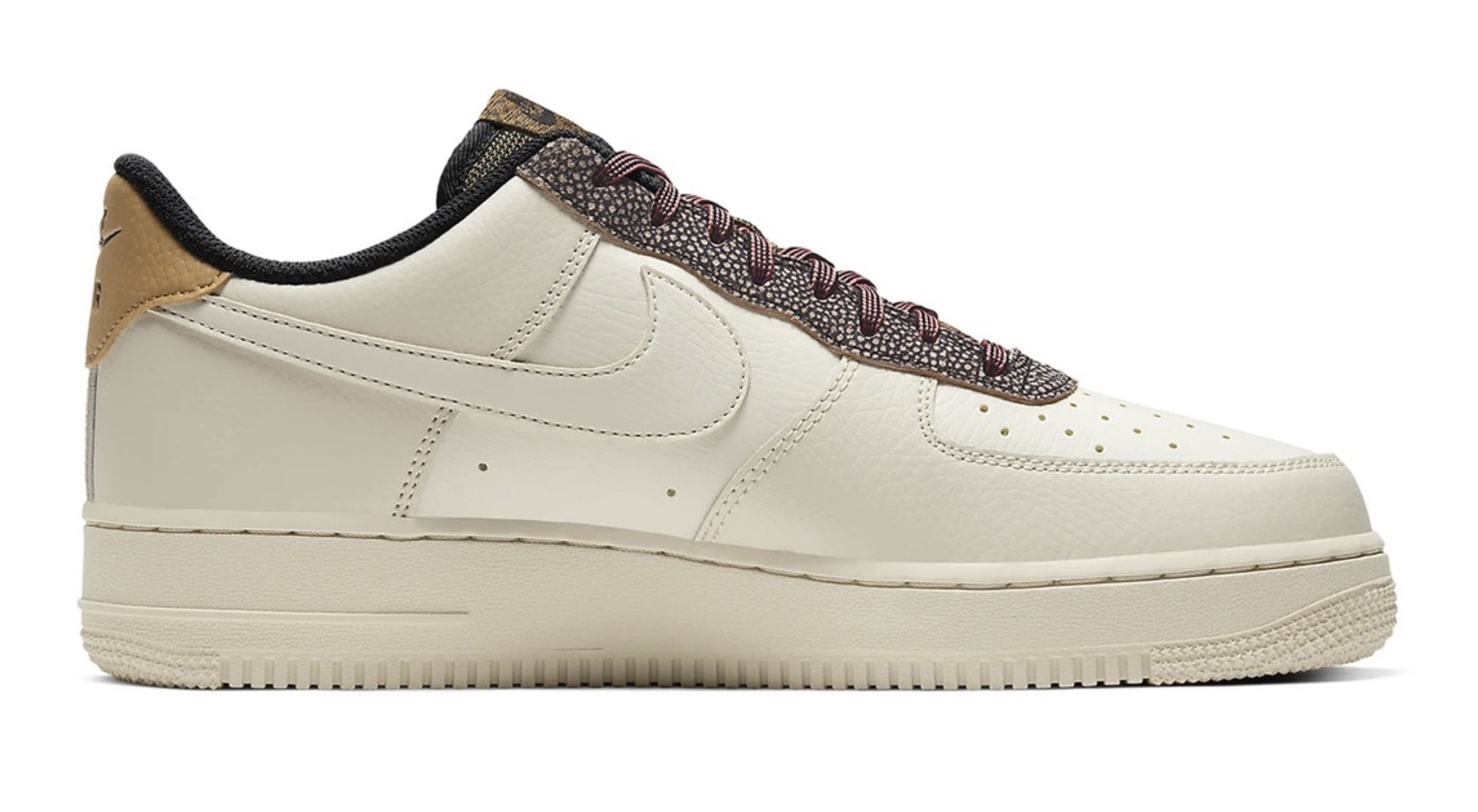 """Nike's Air Force 1 07 in """"Fossil:Wheat:Shimmer"""" 5 right"""