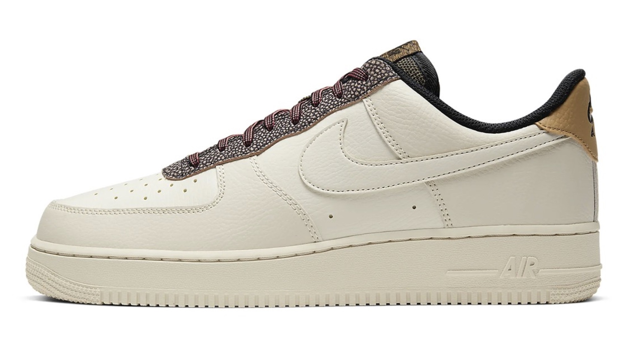 """Nike's Air Force 1 07 in """"Fossil:Wheat:Shimmer"""" 5 left"""