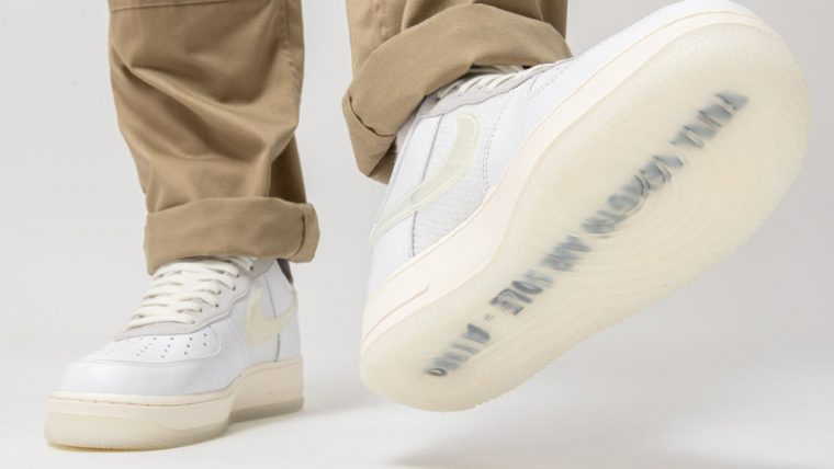 Nike Air Force 1 Low DNA White On Foot thumbnail image