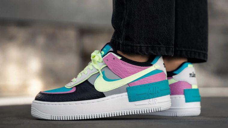 Nike Air Force 1 Shadow Grey Pastel On Foot thumbnail image