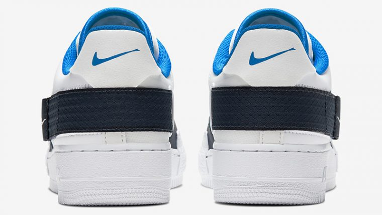 Nike Air Force 1 Type White Blue CQ2344-100 back thumbnail image
