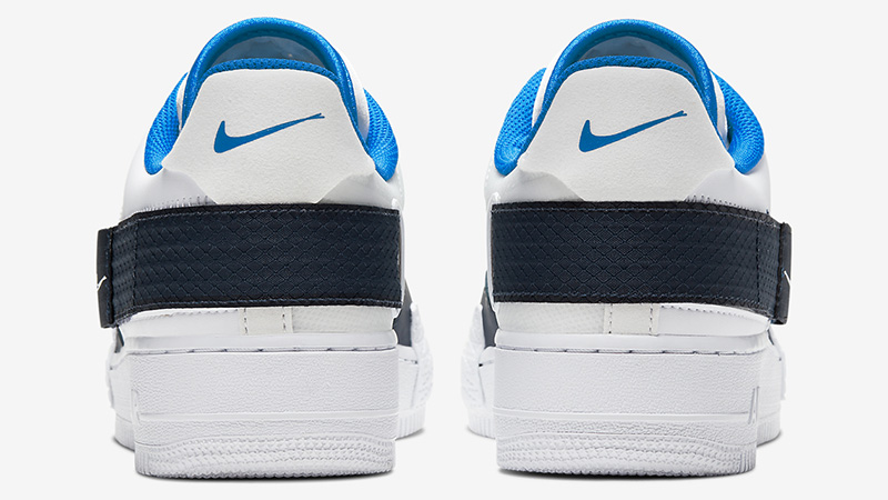 Nike Air Force 1 Type White Blue CQ2344-100 back