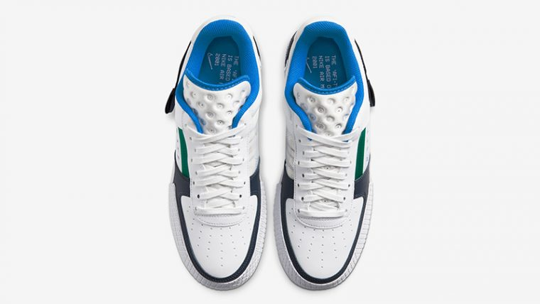 Nike Air Force 1 Type White Blue CQ2344-100 middle thumbnail image
