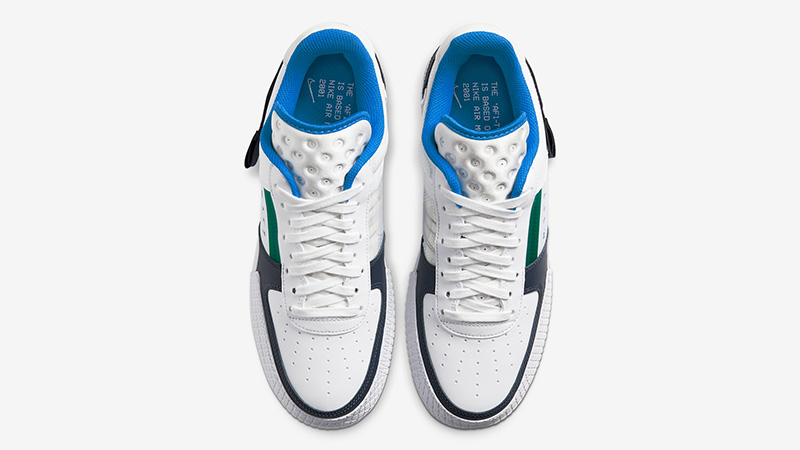 Nike Air Force 1 Type White Blue CQ2344-100 middle