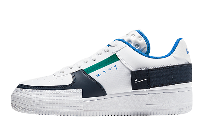 Nike Air Force 1 Type White Blue CQ2344-100