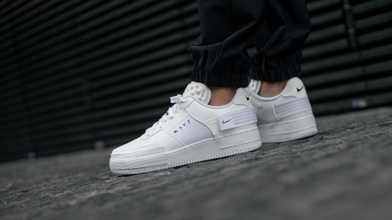 Nike Air Force 1 Type White CQ2344 101Eneste kvinder CQ2344 101 The Sole Womens