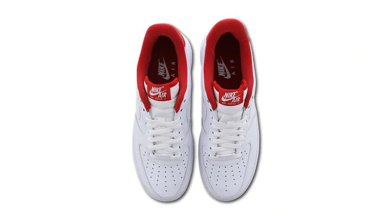 Nike Air Force 1 White Red CD0884 101Eneste kvinder CD0884 101 The Sole Womens