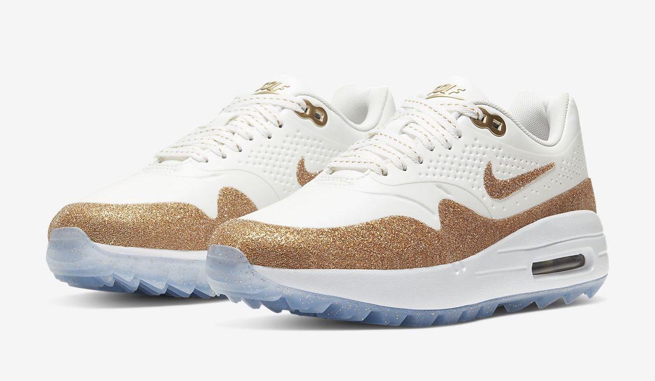 Nike Air Max 1 x Swarovski gold white