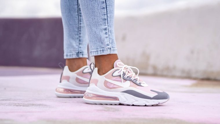 Nike Air Max 270 React Plum Chalk On Foot thumbnail image