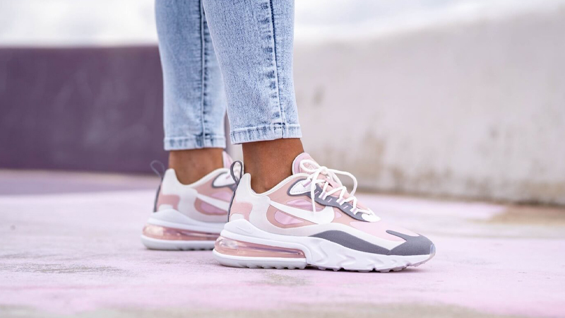 Nike Air Max 270 React Plum Chalk On Foot
