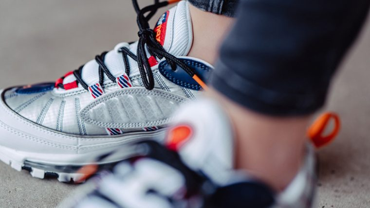 Nike Air Max 98 Premium White Grey CQ3990-100 tongue thumbnail image
