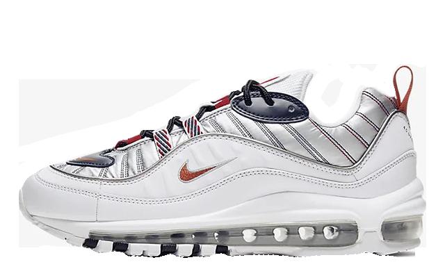 Nike Air Max 98 Premium White Grey CQ3990-100