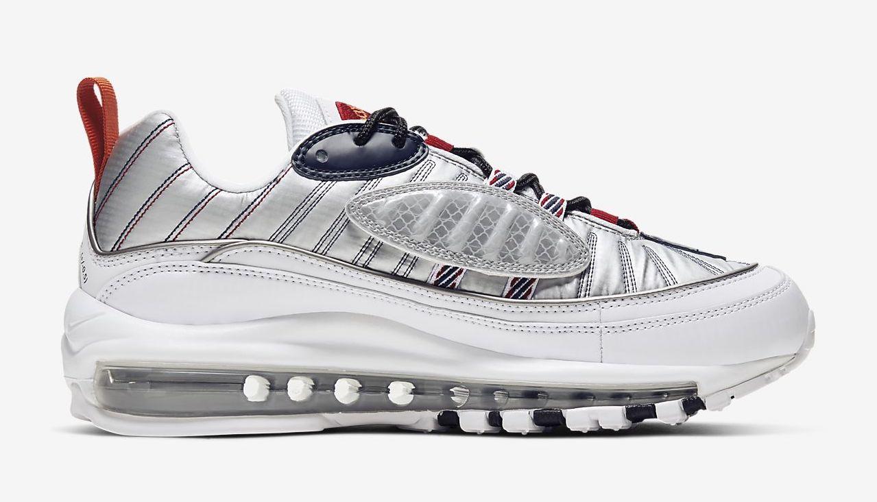 Nike Air Max 98 premium white silver red