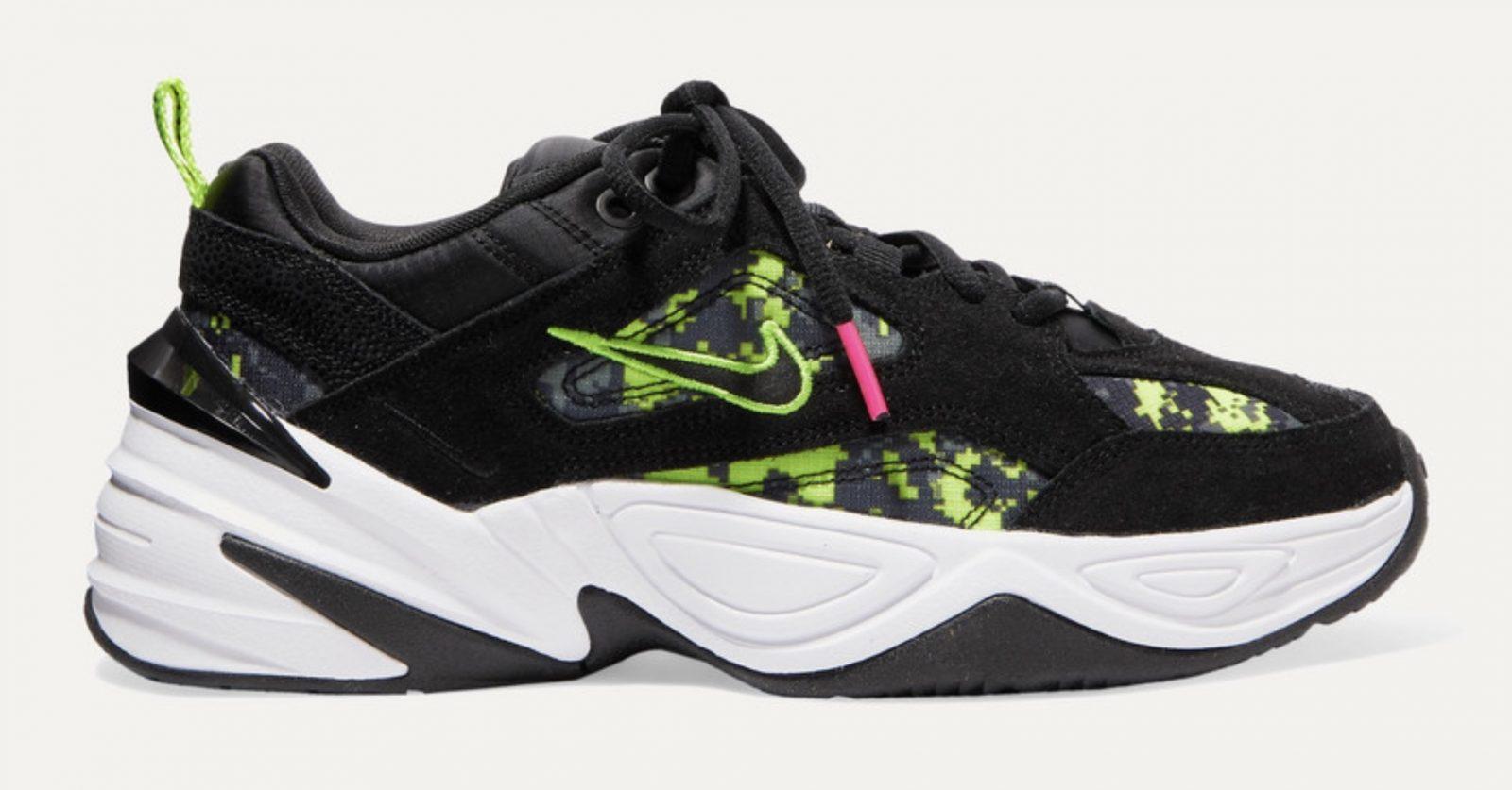 Nike M2K Tekno Camo Glitch Green