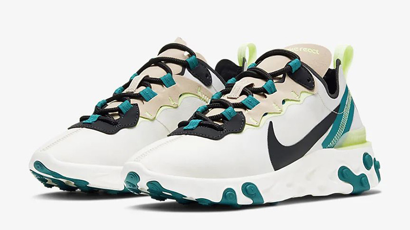 Nike React Element 55 Fossil Stone BQ2728-202 front