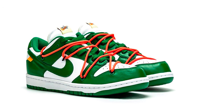 Off-White x Nike Dunk Low Pine Green CT0856-100 front