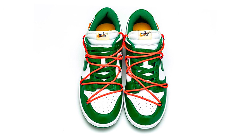 Off-White x Nike Dunk Low Pine Green CT0856-100 side