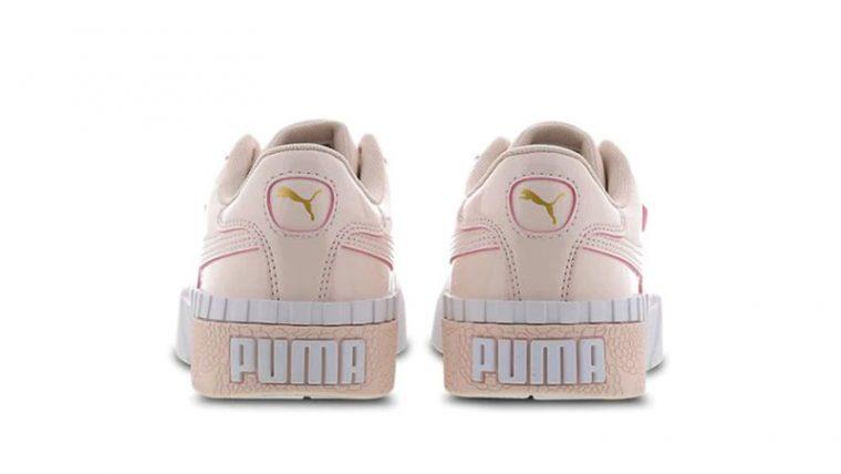 PUMA Cali Patent Rose White 370139-03 back thumbnail image