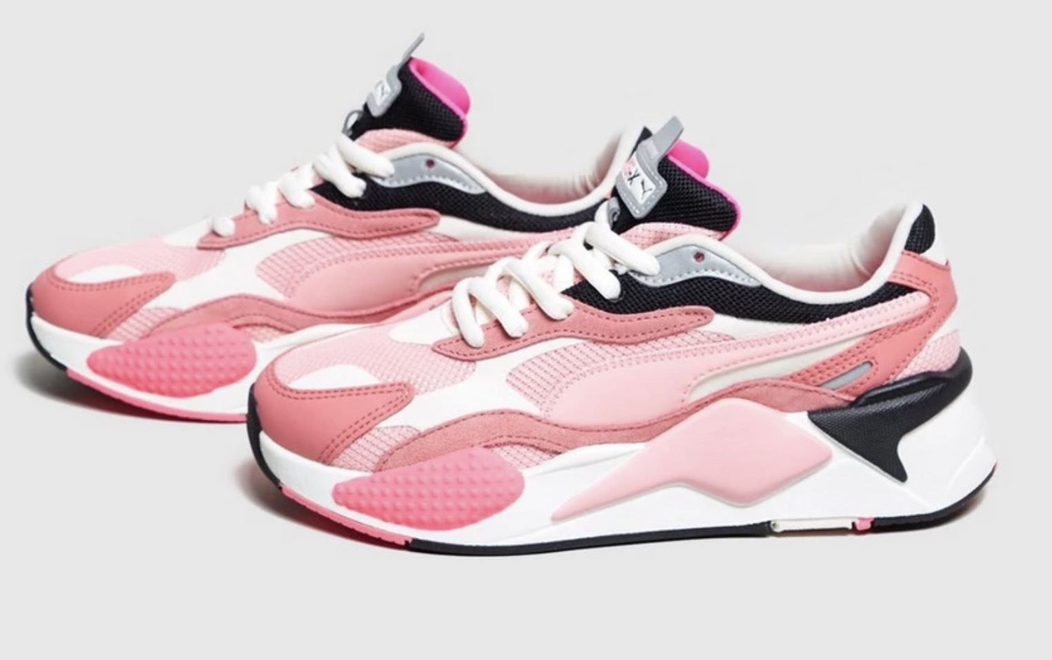 Puma RS-X3 Puzzle Pink | 371570-06 side profile