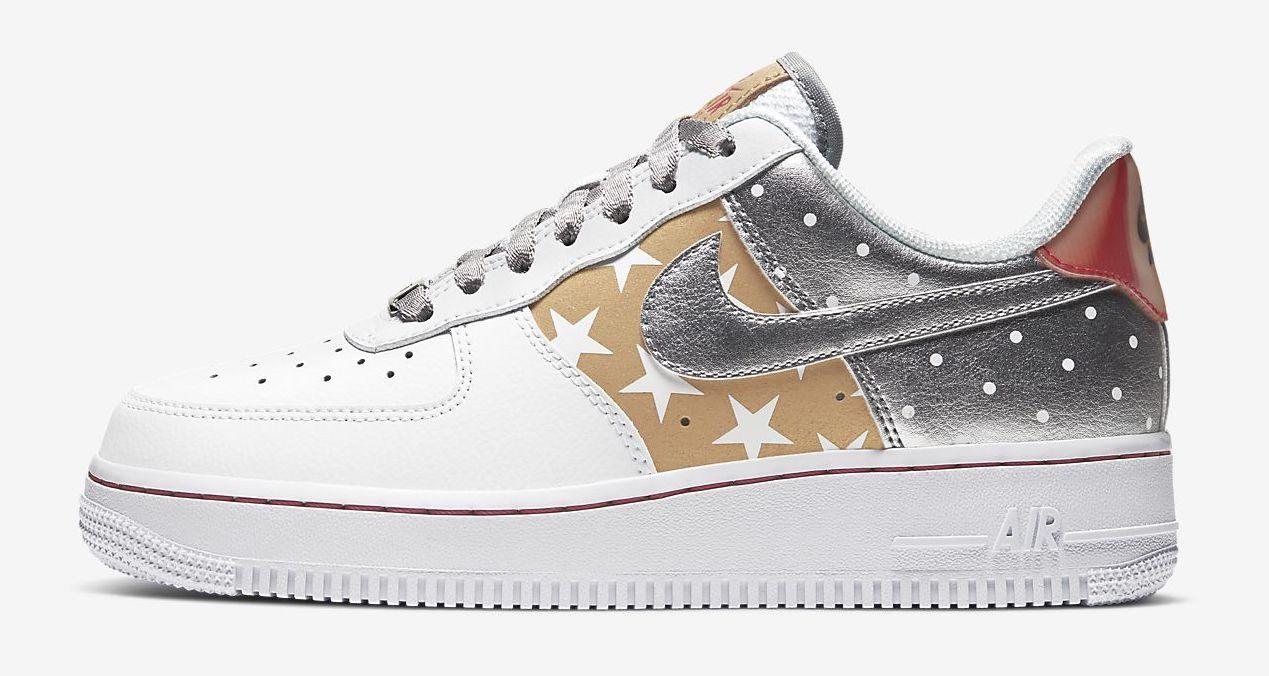 air force 1 07 white metallic silver