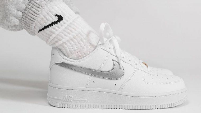 air force 1 white silver