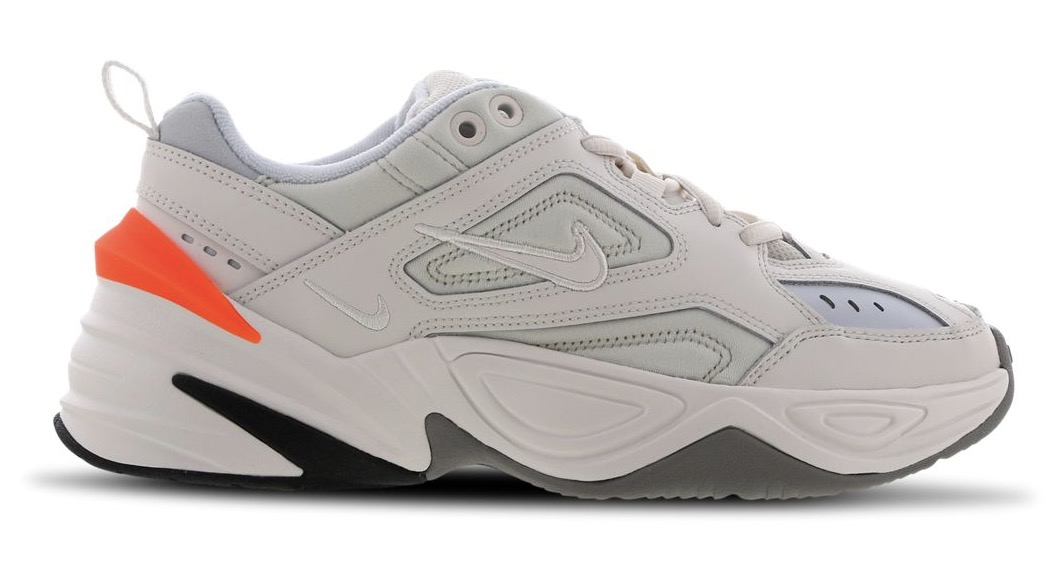 nike m2k tekno grey orange.