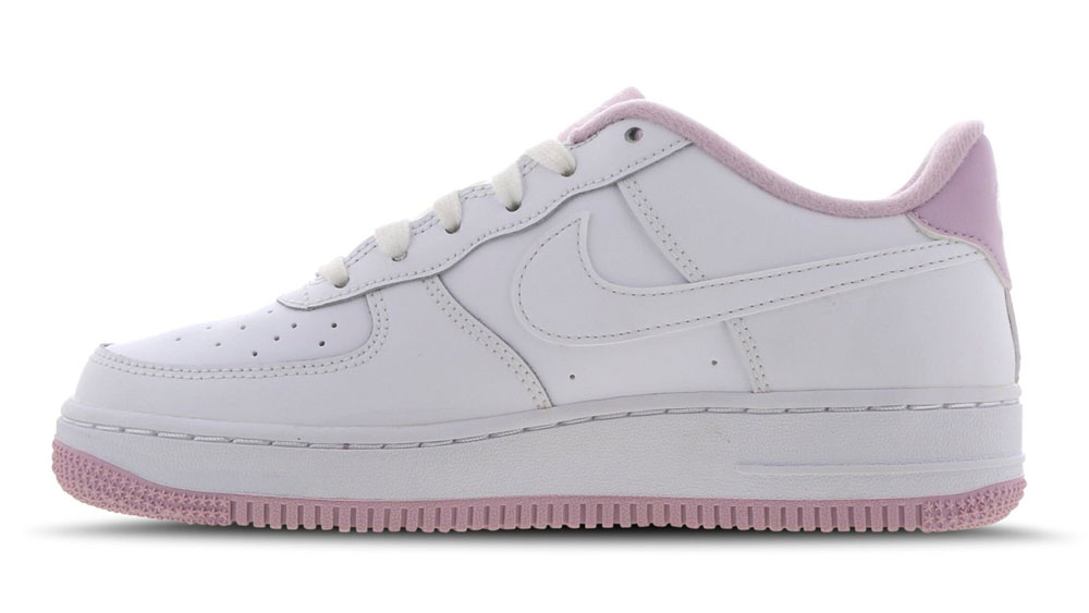 Nike Air Force 1 White Pink side 2