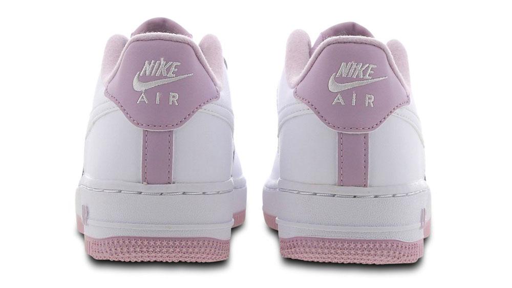 Nike Air Force 1 White Pink heel