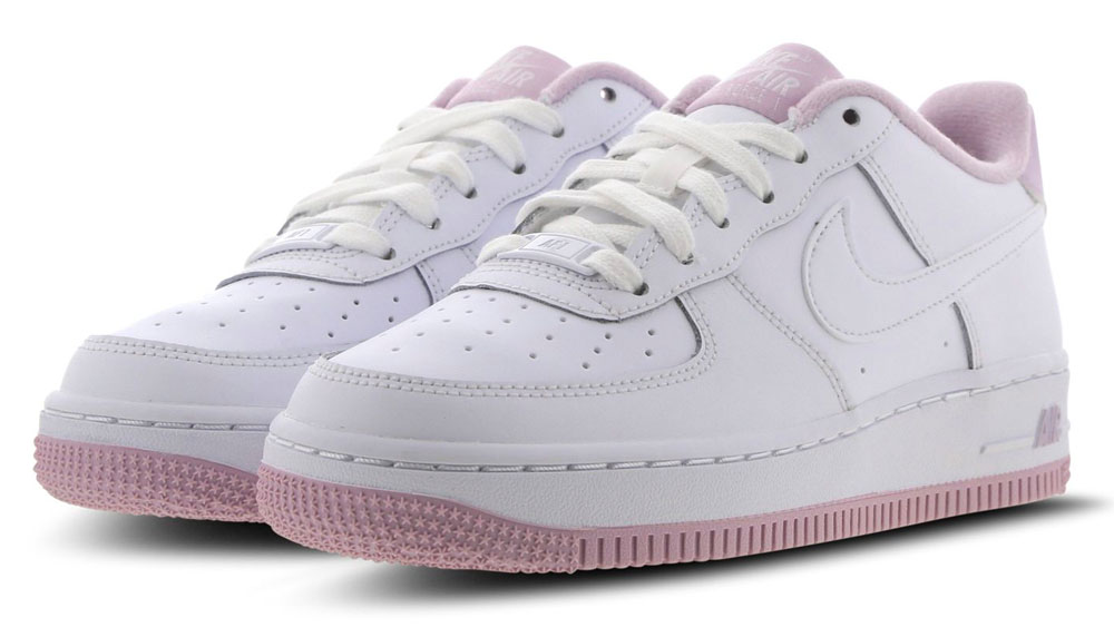 Nike Air Force 1 White Pink side 1