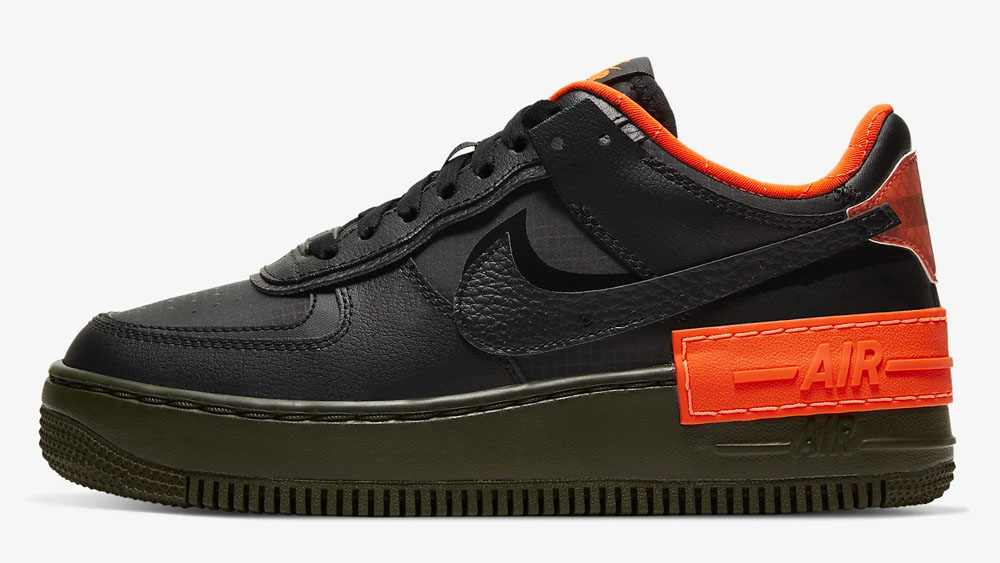 Nike Air Force 1 Shadow Black Orange