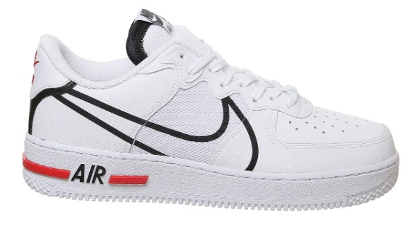 Air Force 1 React White Red