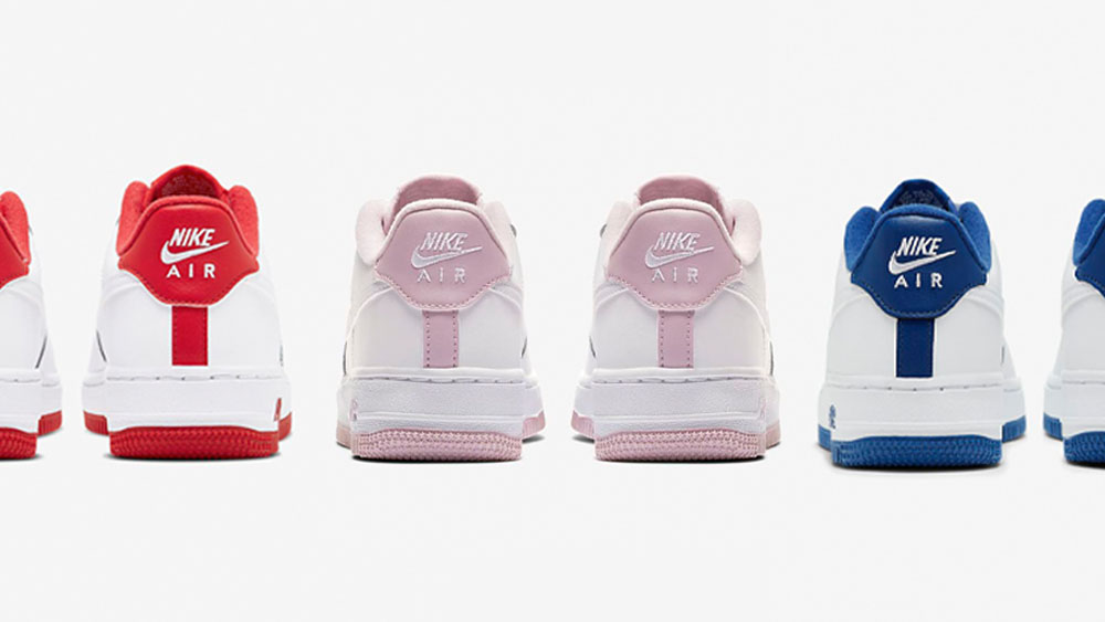 Air Force 1 White Red Pink Blue