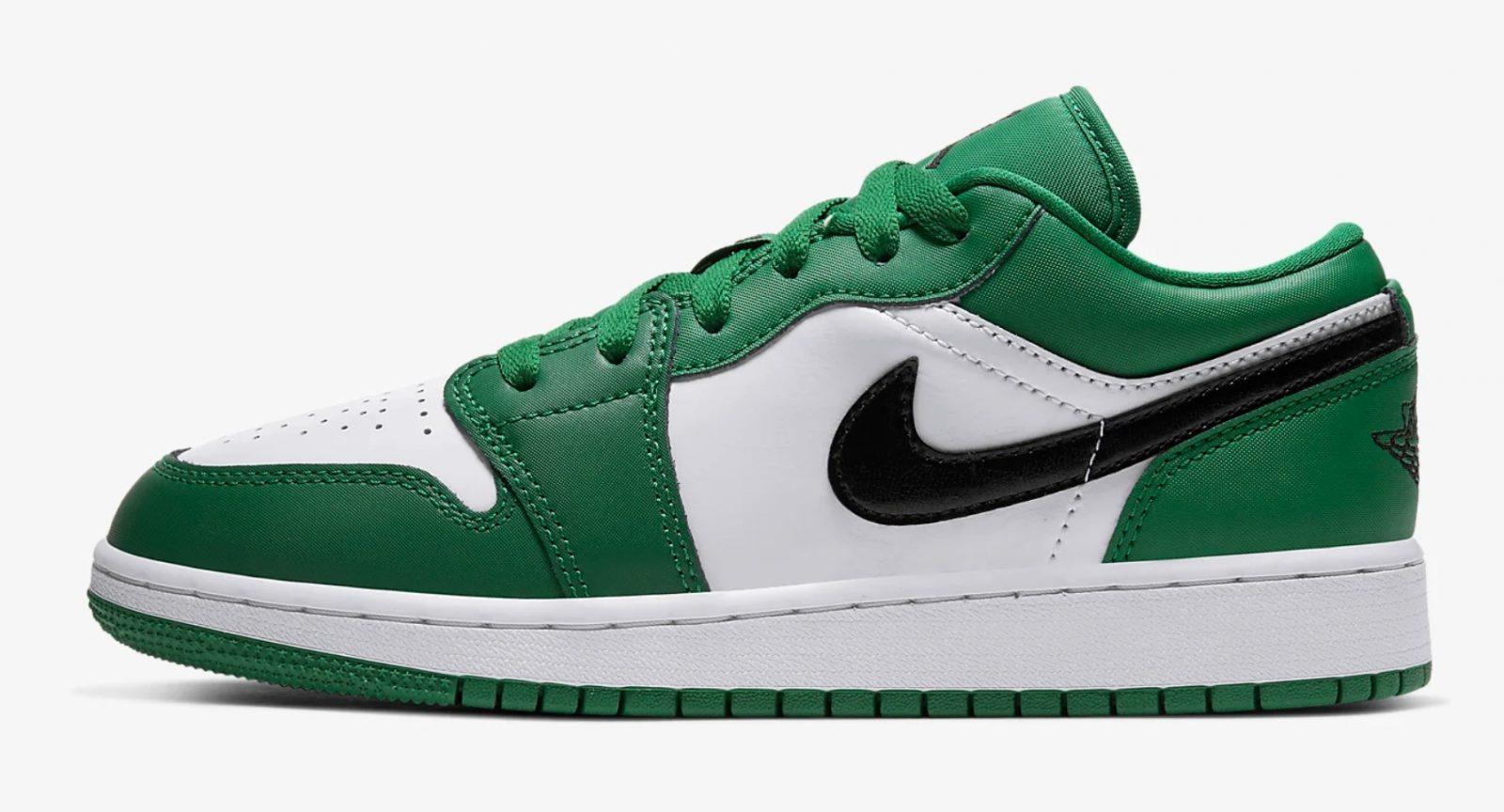 Air Jordan 1 Low Pine Green 553560-301 left