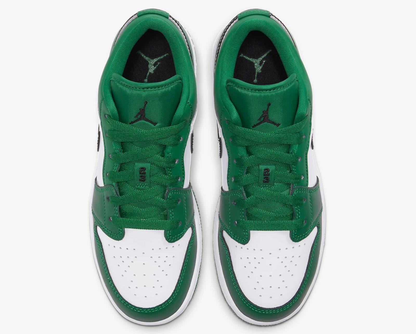 Air Jordan 1 Low Pine Green 553560-301 laces