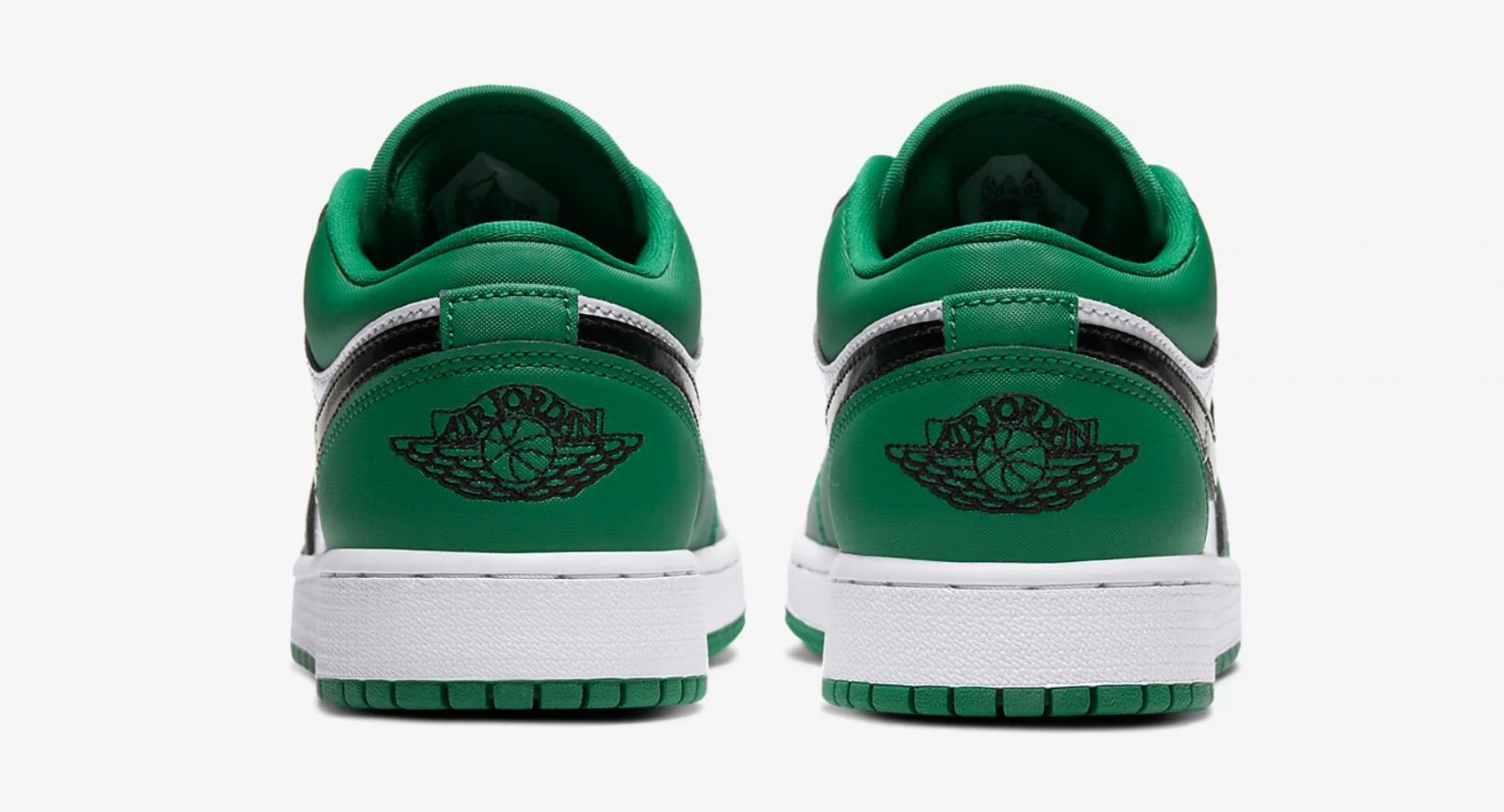 Air Jordan 1 Low Pine Green 553560-301 heel