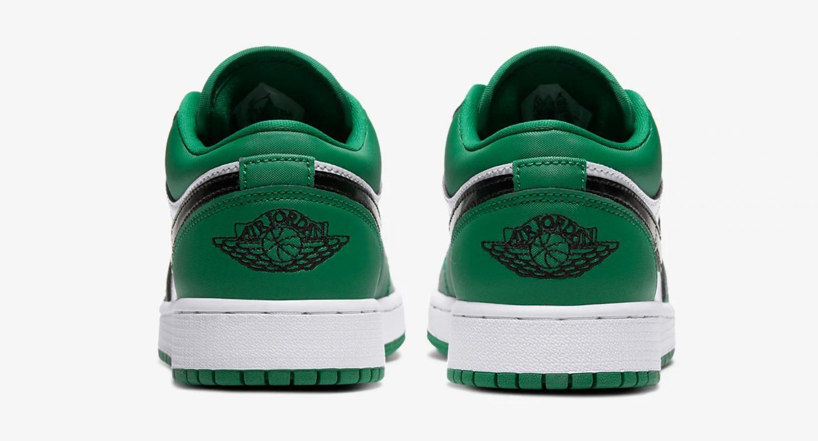 Air Jordan 1 Low Pine Green 553560-301 heel
