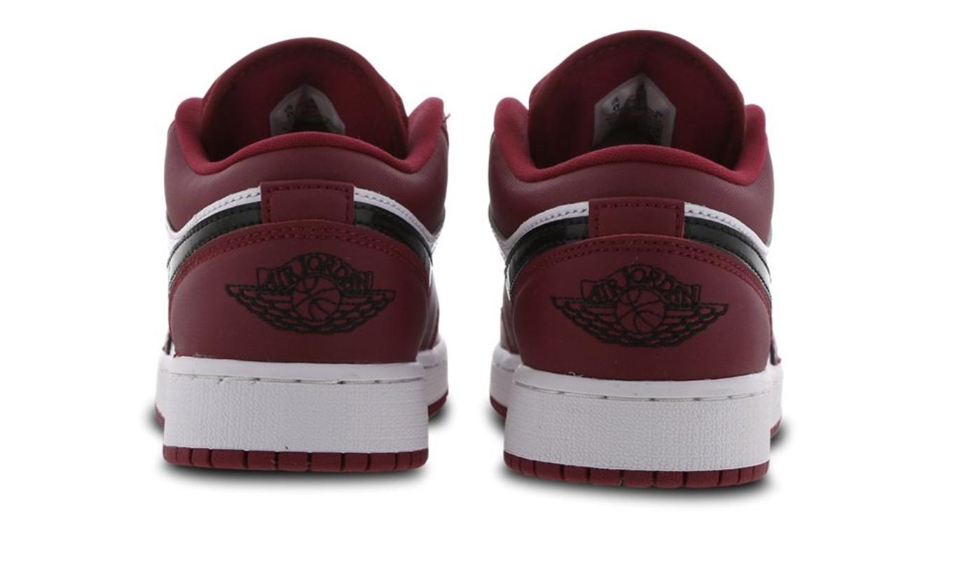 Air Jordan 1 Low Red Black heel