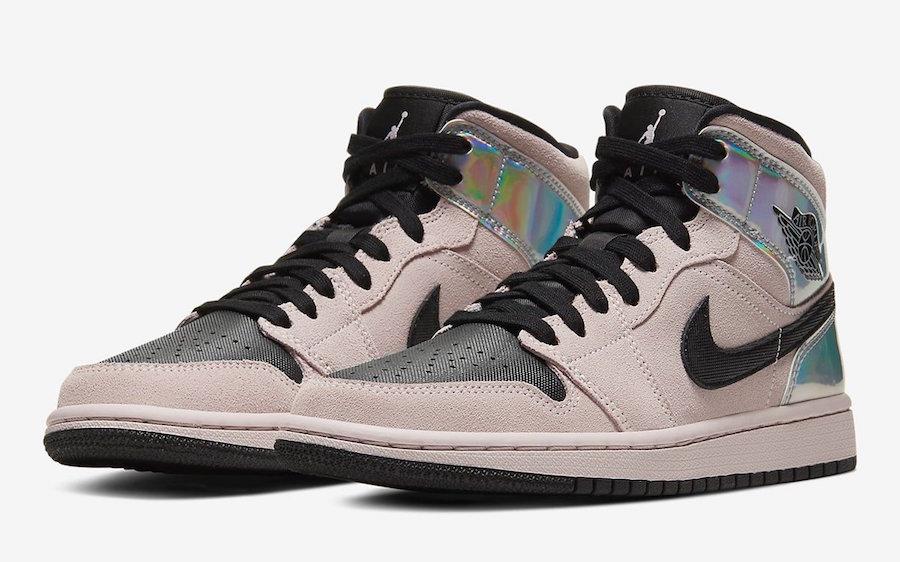 Air-Jordan-1-Mid-Iridescent Pink front