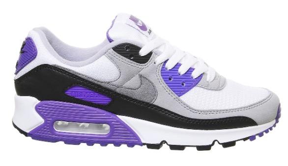Air Max 90 White Purple