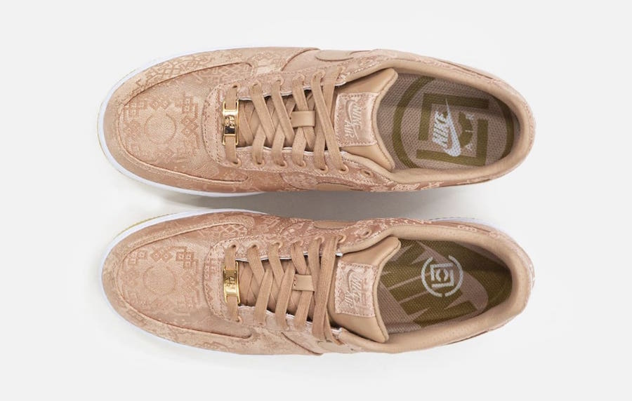 CLOT-Nike-Air-Force-1-Low-Rose-Gold-CJ5290-600-Release-Date-5 laces