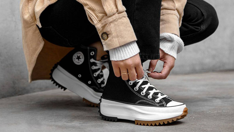 Converse Run Star Hike Black On Foot
