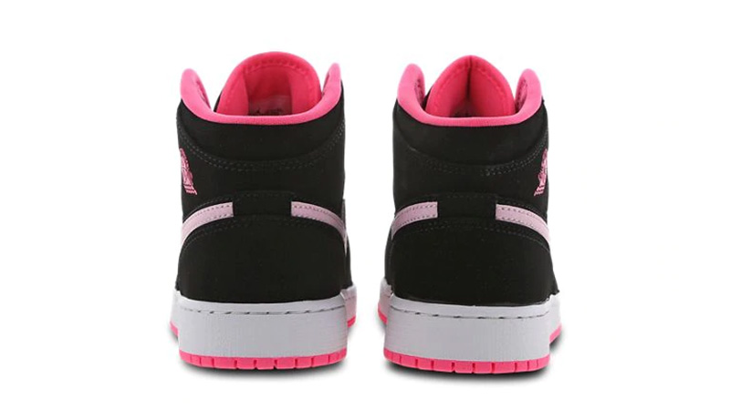 Jordan 1 Mid GS Black Pink 555112-066 back
