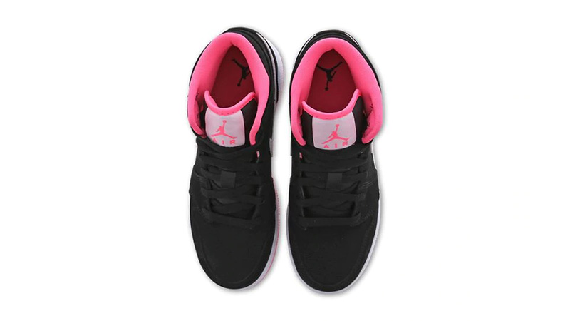 Jordan 1 Mid GS Black Pink 555112-066 middle