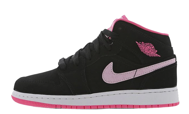 Jordan 1 Mid GS Black Pink 555112-066
